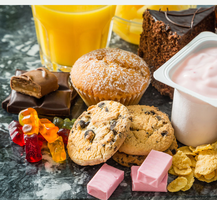 Sugar and fat diet